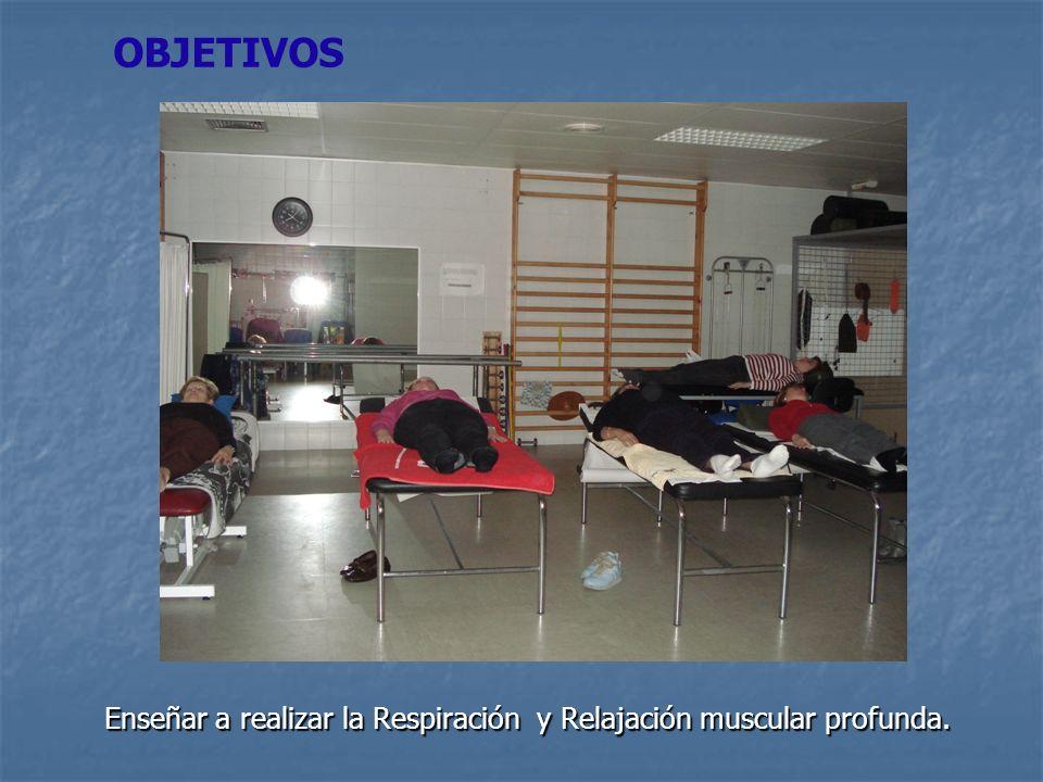 Enseñar a realizar la Respiración y Relajación muscular profunda. OBJETIVOS