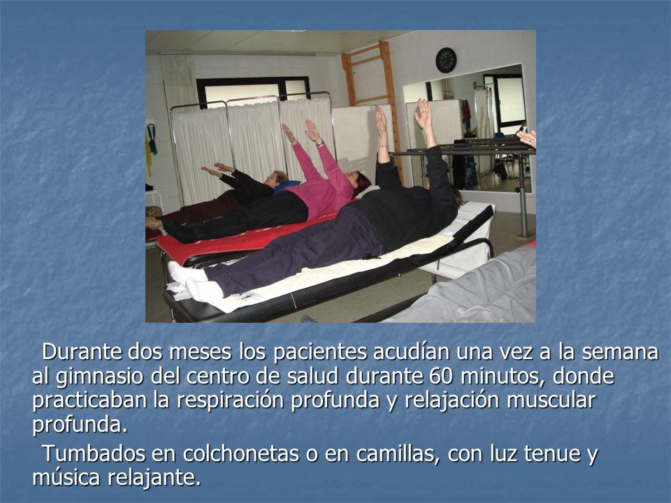 Durante dos meses los pacientes acudían una vez a la semana al gimnasio del centro de salud durante 60 minutos, donde practicaban la respiración profu