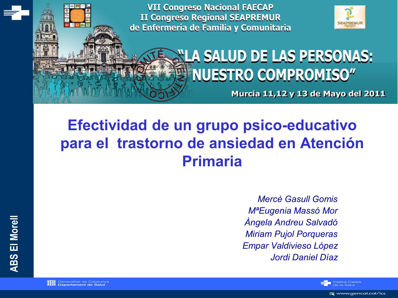 ABS El Morell Como abordamos los profesionales de enfermería de Atención Primaria la Salud Mental?