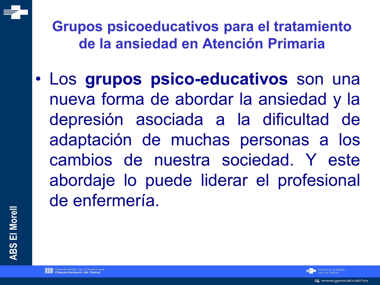 ABS El Morell GRUPOS PSICOEDUCATIVOS EN EL ABS EL MORELL 2009-2010