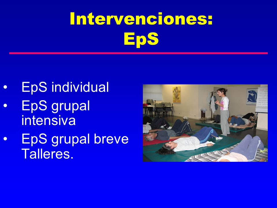 EpS: Técnicas Educativas Activas Intervenciones EpS: Técnicas Educativas Activas OBJETIVOSTÉCNICAS INDIVIDUALES TÉCNICAS GRUPALES ExpresarEXPRESIÓNINVESTIGACIÓN EN AULA Aumentar Conocimientos INFORMACIÓNEXPOSITIVAS Analizar y reflexionarANÁLISIS Desarrollar habilidades DES.