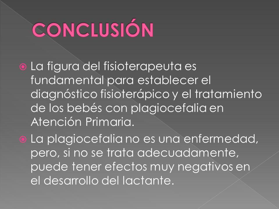 La figura del fisioterapeuta es fundamental para establecer el diagnóstico fisioterápico y el tratamiento de los bebés con plagiocefalia en Atención P