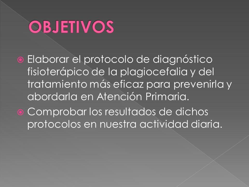 Elaborar el protocolo de diagnóstico fisioterápico de la plagiocefalia y del tratamiento más eficaz para prevenirla y abordarla en Atención Primaria.