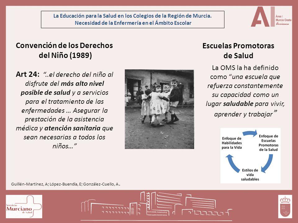La Educación para la Salud en los Colegios de la Región de Murcia. Necesidad de la Enfermería en el Ámbito Escolar Convención de los Derechos del Niño