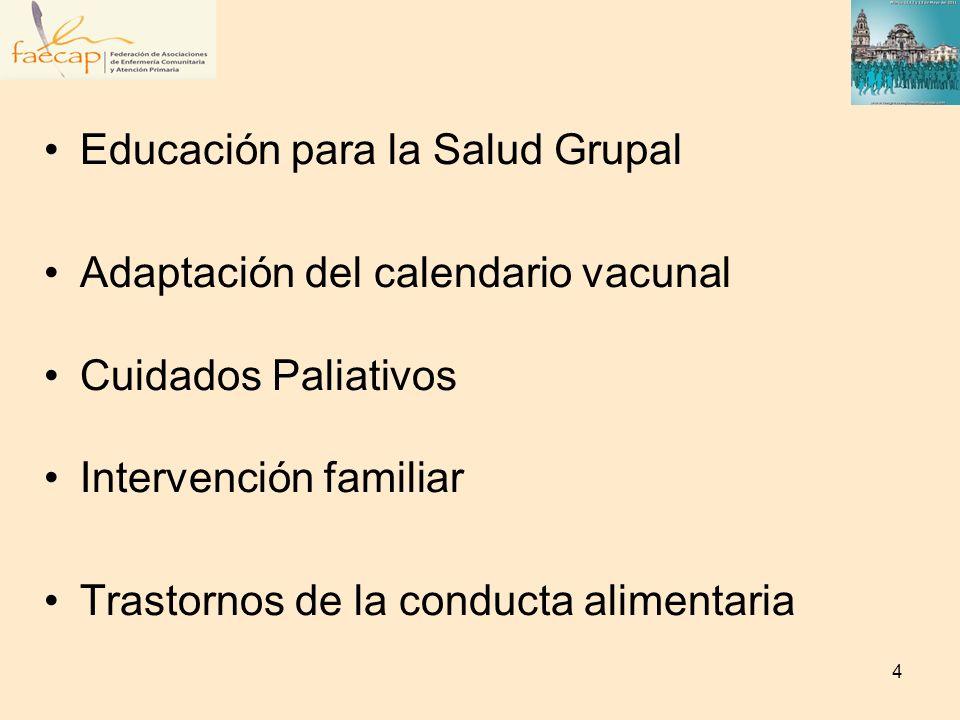 Exclusión social Consulta de enfermería a demanda Seguimiento y valoración de pacientes crónicos Evaluación del manejo de tratamiento polifarmacológicos Promoción de la Salud Sexual 5