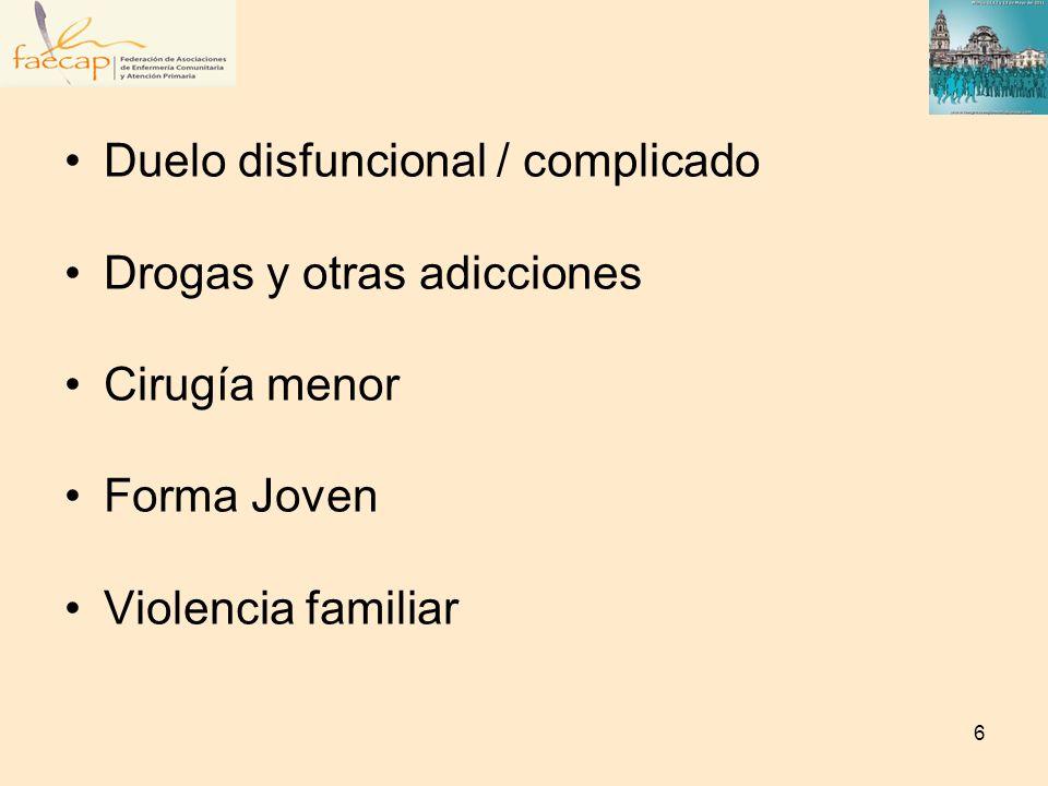 Salud medioambiental Seguimiento de embarazo de bajo riesgo Participación Comunitaria Refuerzo conductual / Reconversión cognitiva en depresiones y trastornos afectivos Promoción del autocuidado en el Climaterio 7