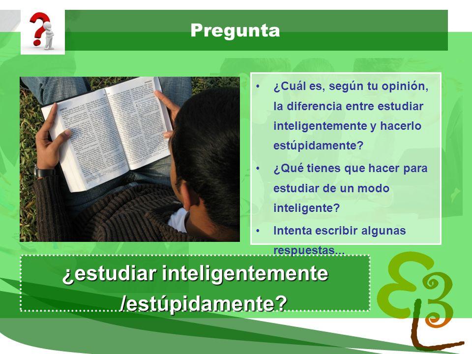 learning to learn network for low skilled senior learners Pregunta ¿Cuál es, según tu opinión, la diferencia entre estudiar inteligentemente y hacerlo