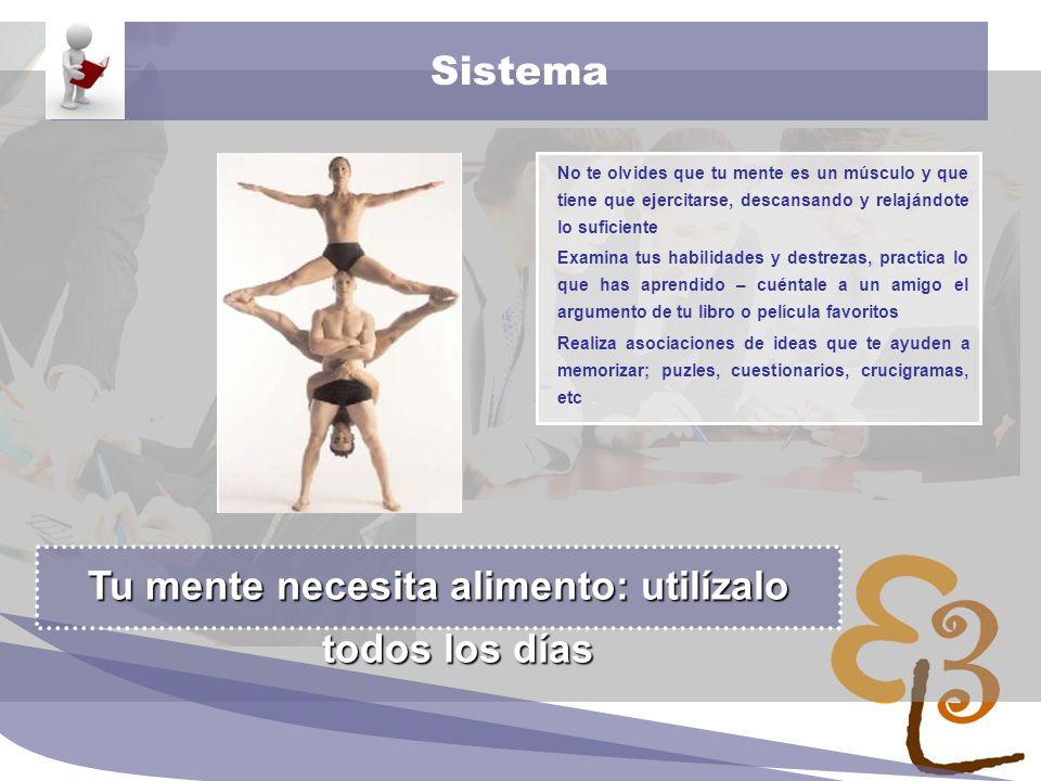 learning to learn network for low skilled senior learners Sistema No te olvides que tu mente es un músculo y que tiene que ejercitarse, descansando y