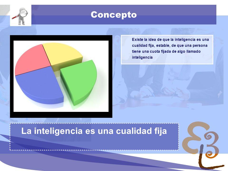 learning to learn network for low skilled senior learners Concepto Existe la idea de que la inteligencia es una cualidad fija, estable, de que una persona tiene una cuota fijada de algo llamado inteligencia La inteligencia es una cualidad fija