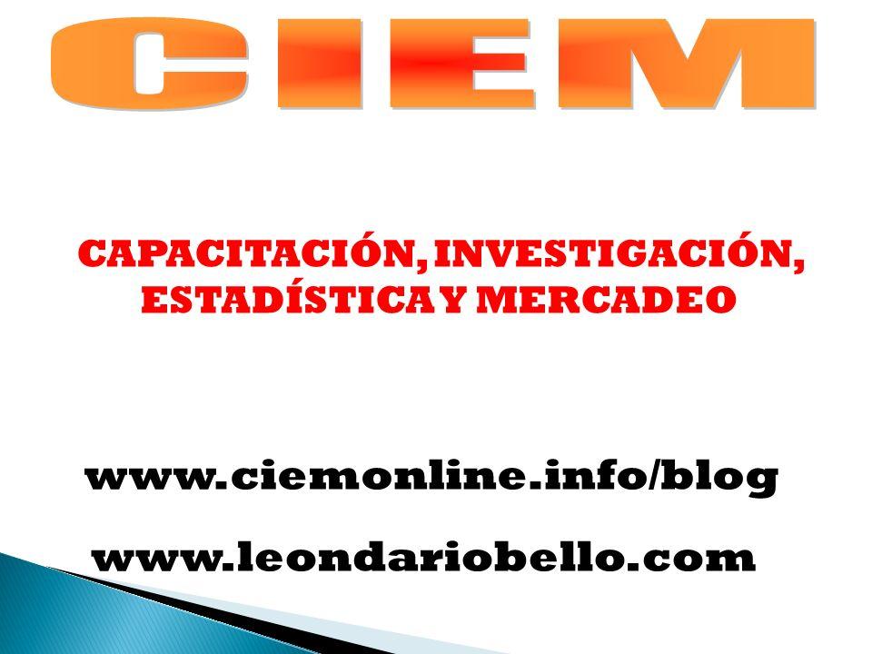 ESCALAS DE MEDICION VS ESTADISTICOS A CALCULAR NOMINAL ORDINAL INTERVALO RAZON PORCENTAJE, TASAS, PROPORCIONES, MO.