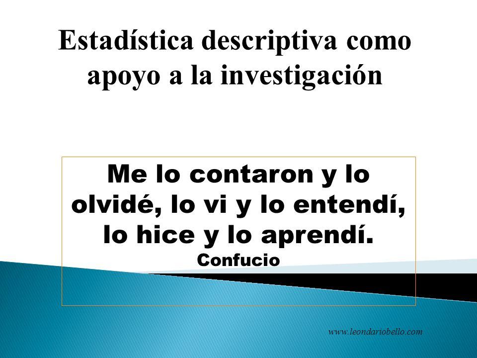 CAPACITACIÓN, INVESTIGACIÓN, ESTADÍSTICA Y MERCADEO www.ciemonline.info/blog www.leondariobello.com