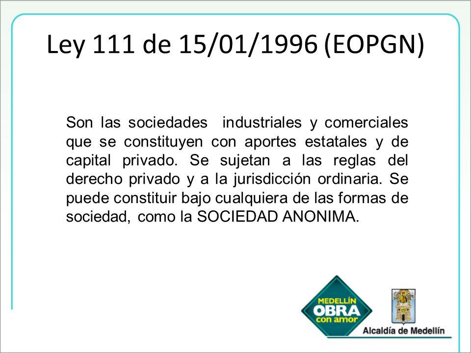 Son las sociedades industriales y comerciales que se constituyen con aportes estatales y de capital privado. Se sujetan a las reglas del derecho priva