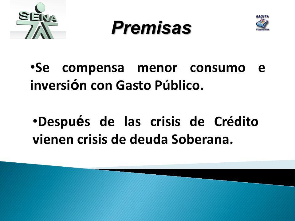 Se compensa menor consumo e inversi ó n con Gasto Público.