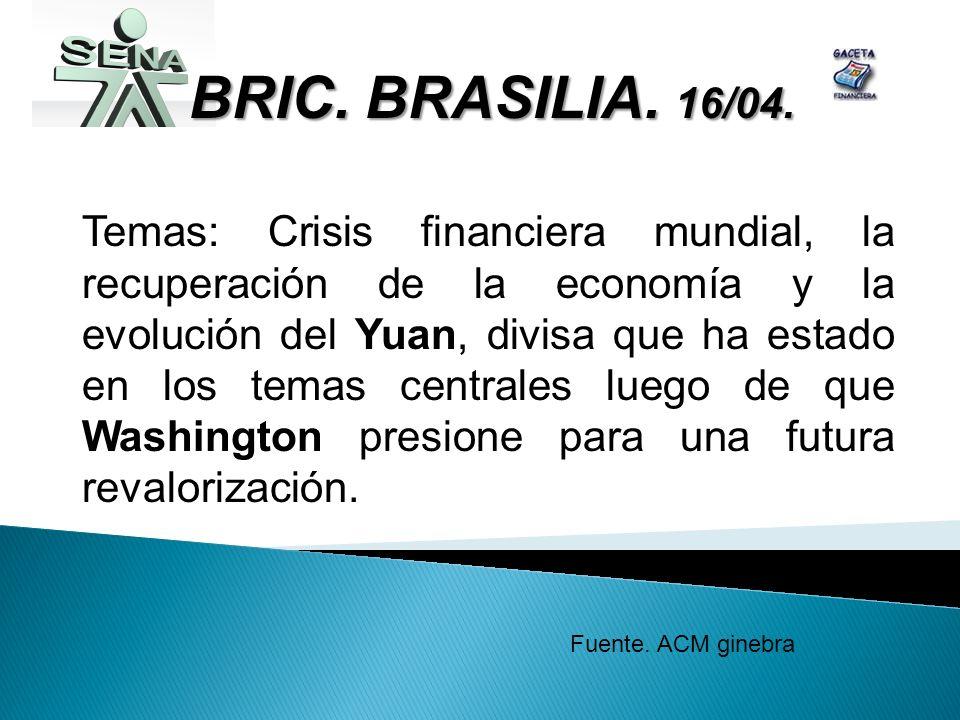 BRIC. BRASILIA. 16/04.