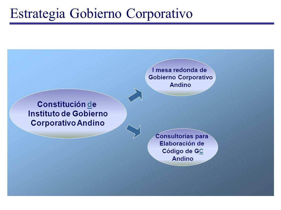 Estrategia Gobierno Corporativo Constitución ded Instituto de Gobierno Corporativo Andino I mesa redonda de Gobierno Corporativo Andino Consultorías p