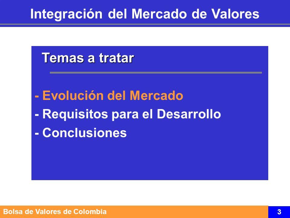 Fuente: Supervalores 4 Evolución del Mercado Marco Conceptual Estructura del Mercado de Valores