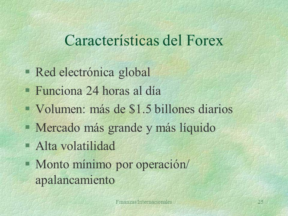 Finanzas Internacionales24 El mercado de cambio extranjero