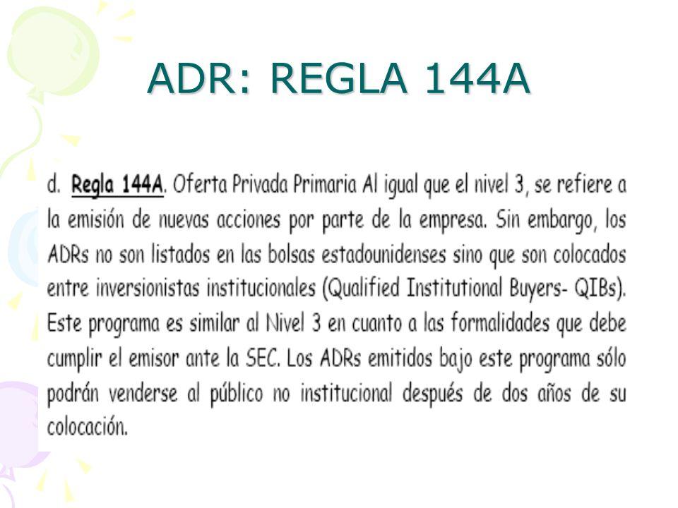 ADR: REGLA 144A