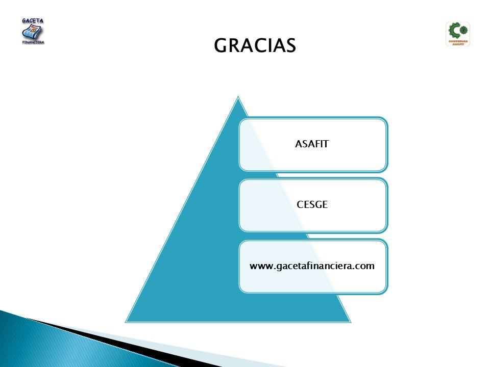 ASAFITCESGEwww.gacetafinanciera.com GRACIAS