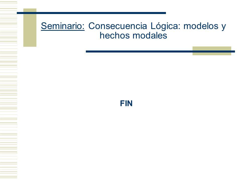 Seminario: Consecuencia Lógica: modelos y hechos modales ¿Por qué aceptar (iv).