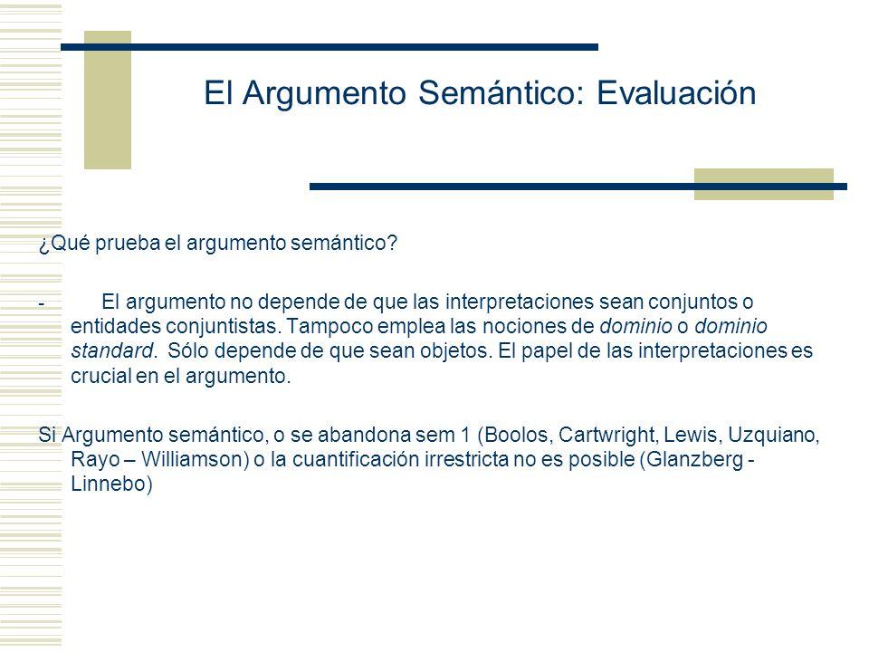 El Argumento Semántico: Versión Rayo Pero, dado que los modelos* son individuos, podemos definir un nuevo predicado, R, como sigue: (2) Para todo individuo x, x es R si y sólo si x no es un modelo* de acuerdo con el cual P es verdadero de la pareja.