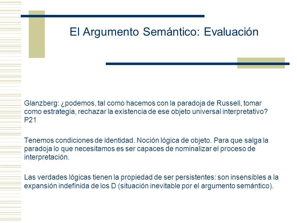 El Argumento Semántico: Evaluación Conceptualismo de Williamson: Los cuantificadores de segundo orden tienen como rangos conceptos que toman objetos como argumentos y los de tercer orden conceptos de tales conceptos.