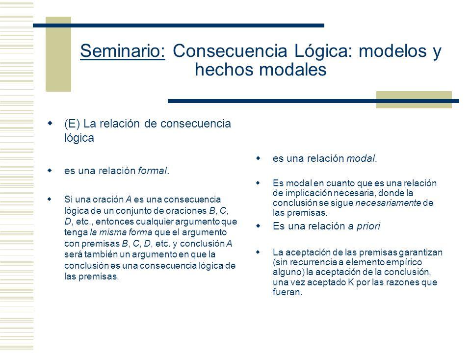 Seminario: Consecuencia Lógica: modelos y hechos modales Funciones - Permiten formar nombres de otros nombres.