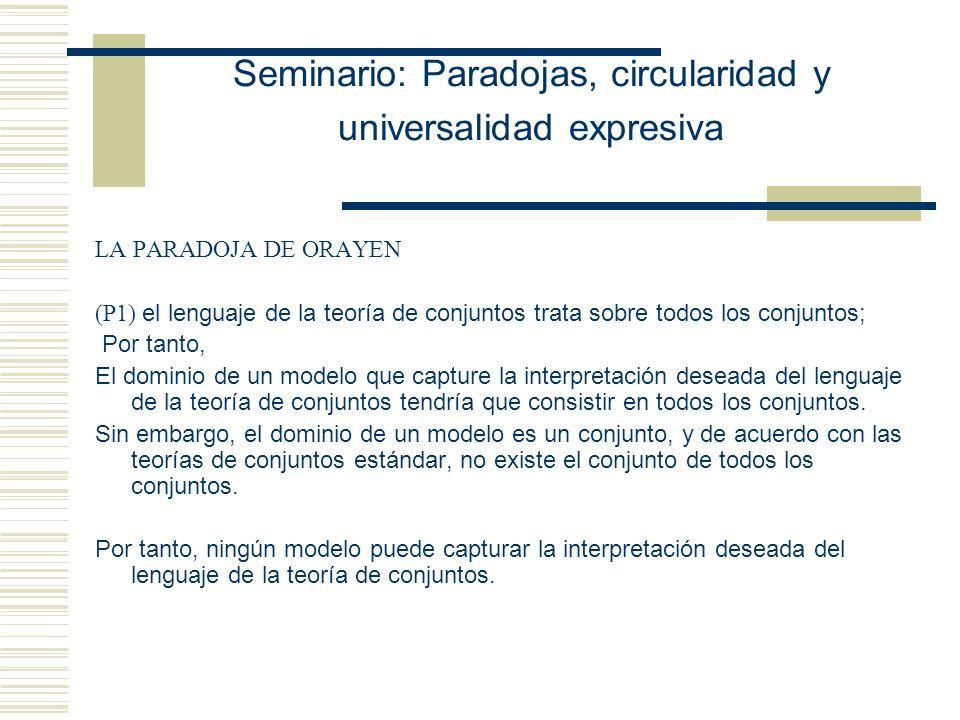 Seminario: Paradojas, circularidad y universalidad expresiva -Agustín Rayo (MIT)