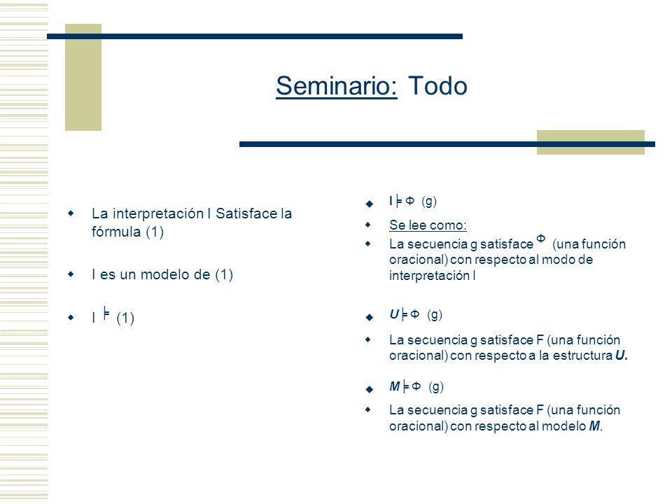 Seminario: Todo L es un lenguaje de primer orden.