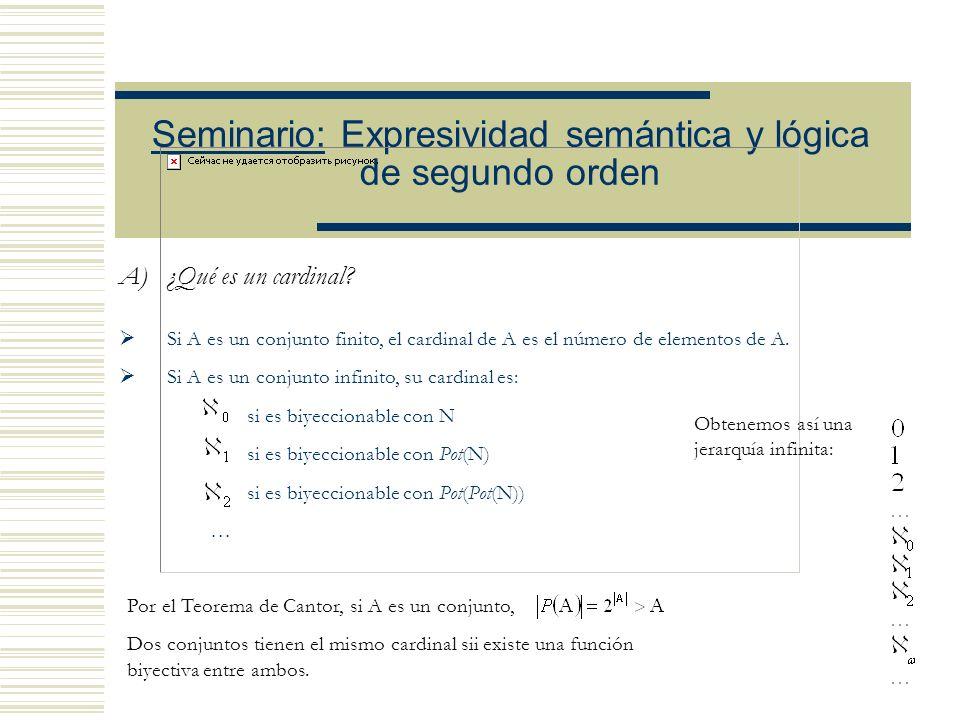 Seminario: Expresividad semántica y lógica de segundo orden CARDINALES INACCESIBLES Lavinia Picollo Profesores Eduardo Alejandro Barrio y Javier Castr