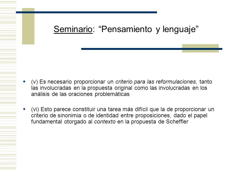 Seminario: Pensamiento y lenguaje Church contraataca (i) ¿Puede acaso considerarse que lo afirmado por una oración de adscripción involucra otras insc