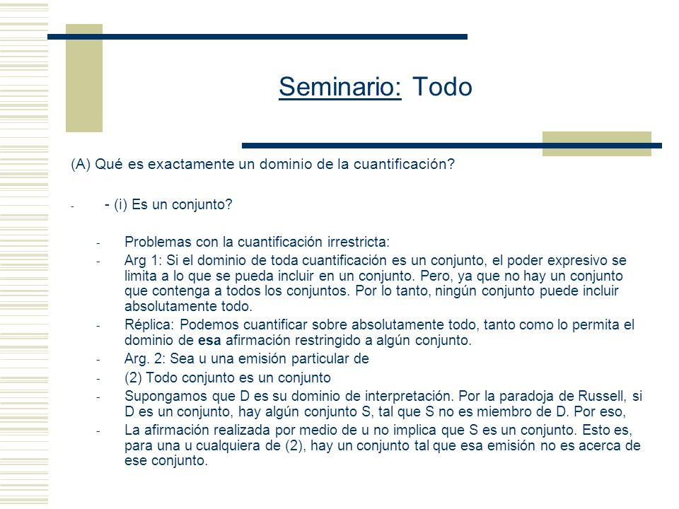 Seminario: Todo - Jason Stanley (Suny)Zoltán Szabó (Cornell) - Domain of Quantification