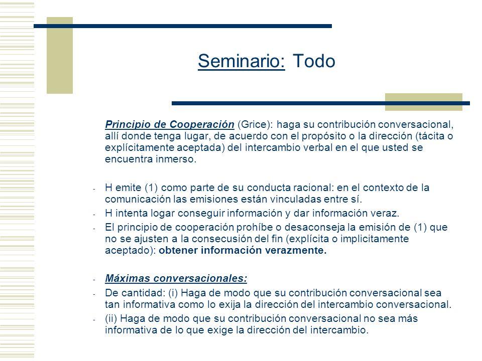 Seminario: Todo (B) Cómo deberías ser incorporados los dominios en una teoría de la interpretación lingüística.