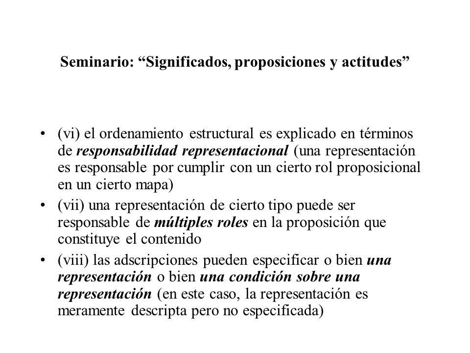 Seminario: Significados, proposiciones y actitudes (vi) el ordenamiento estructural es explicado en términos de responsabilidad representacional (una