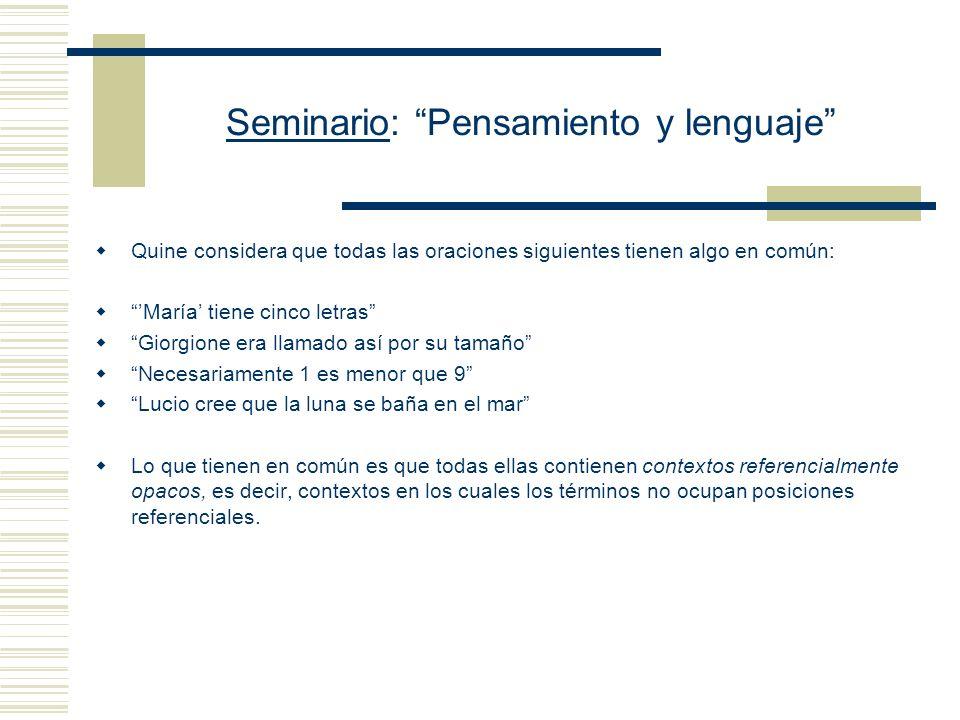 Seminario: Pensamiento y lenguaje Una oración como Q, El emperador de Mar del Plata no está resfriado es ambigua: puede significar que (i) No es ciert