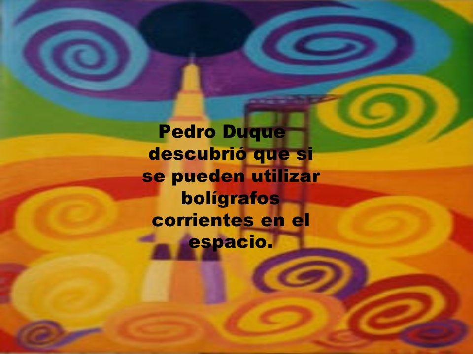 Pedro Duque descubrió que si se pueden utilizar bolígrafos corrientes en el espacio.