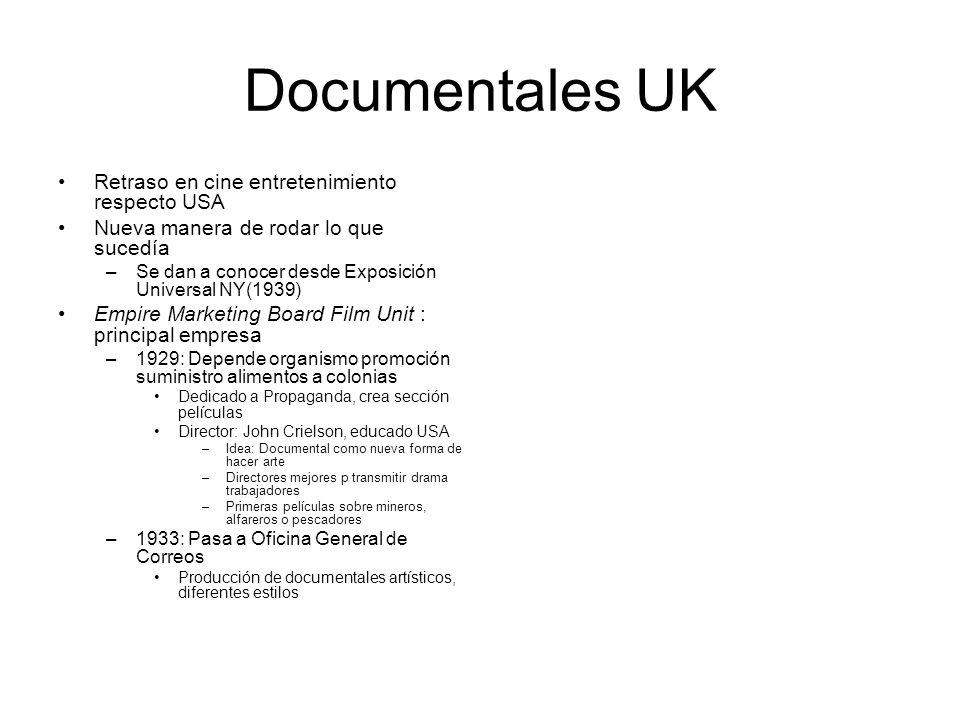 Documentales UK Retraso en cine entretenimiento respecto USA Nueva manera de rodar lo que sucedía –Se dan a conocer desde Exposición Universal NY(1939
