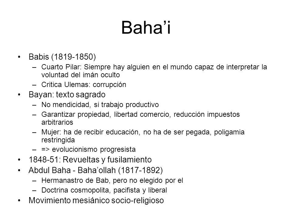 Bahai Babis (1819-1850) –Cuarto Pilar: Siempre hay alguien en el mundo capaz de interpretar la voluntad del imán oculto –Critica Ulemas: corrupción Ba