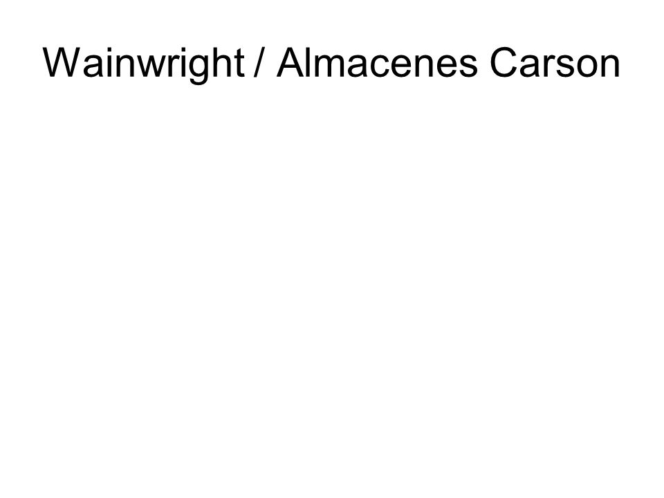 Wainwright / Almacenes Carson