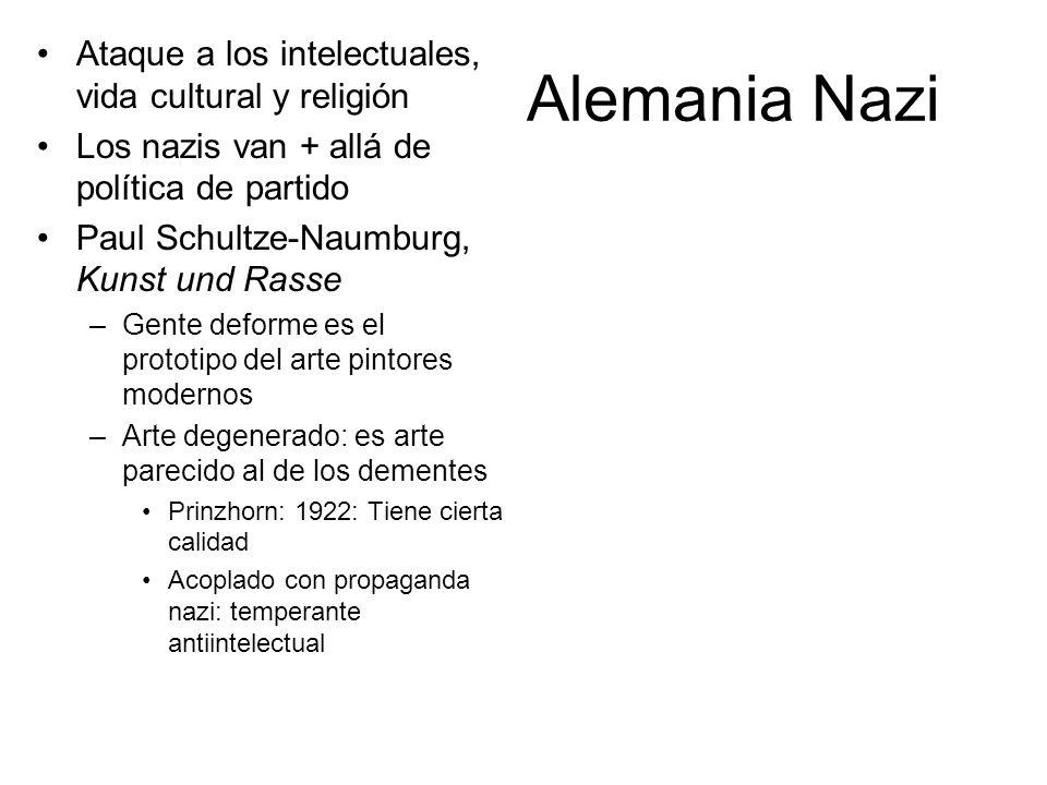 Alemania Nazi Ataque a los intelectuales, vida cultural y religión Los nazis van + allá de política de partido Paul Schultze-Naumburg, Kunst und Rasse