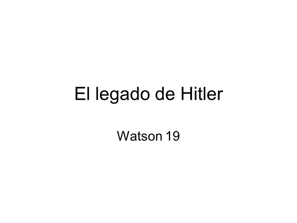 El legado de Hitler Watson 19