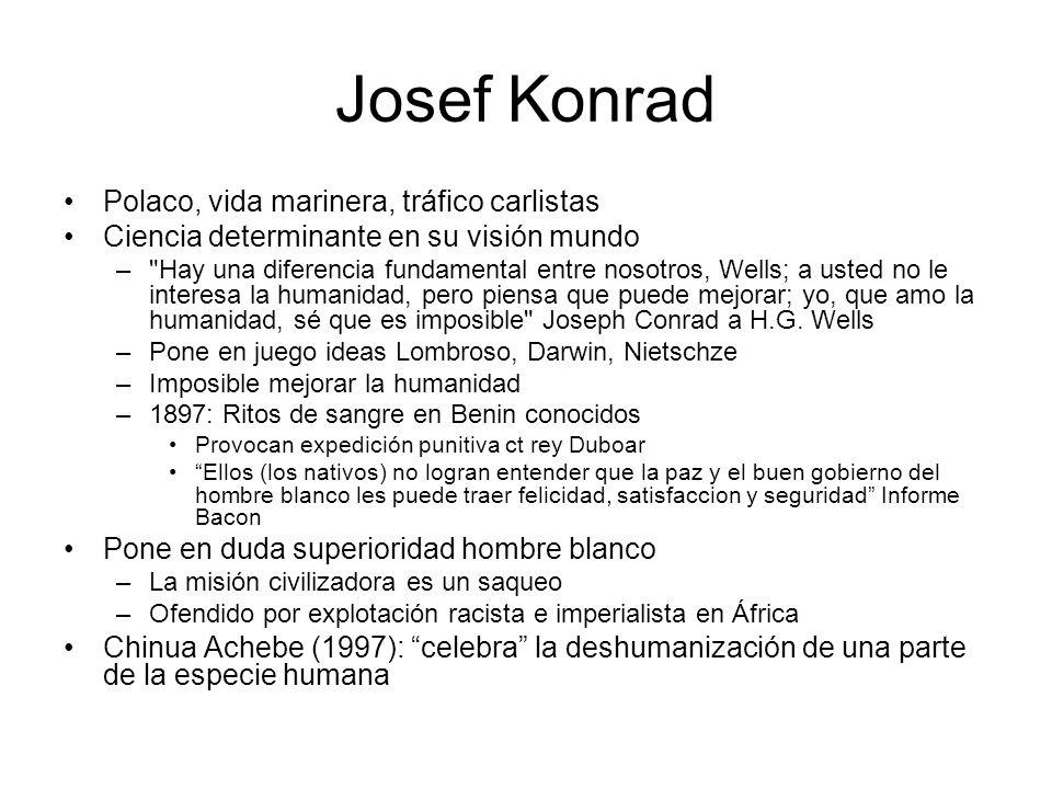 Josef Konrad Polaco, vida marinera, tráfico carlistas Ciencia determinante en su visión mundo –