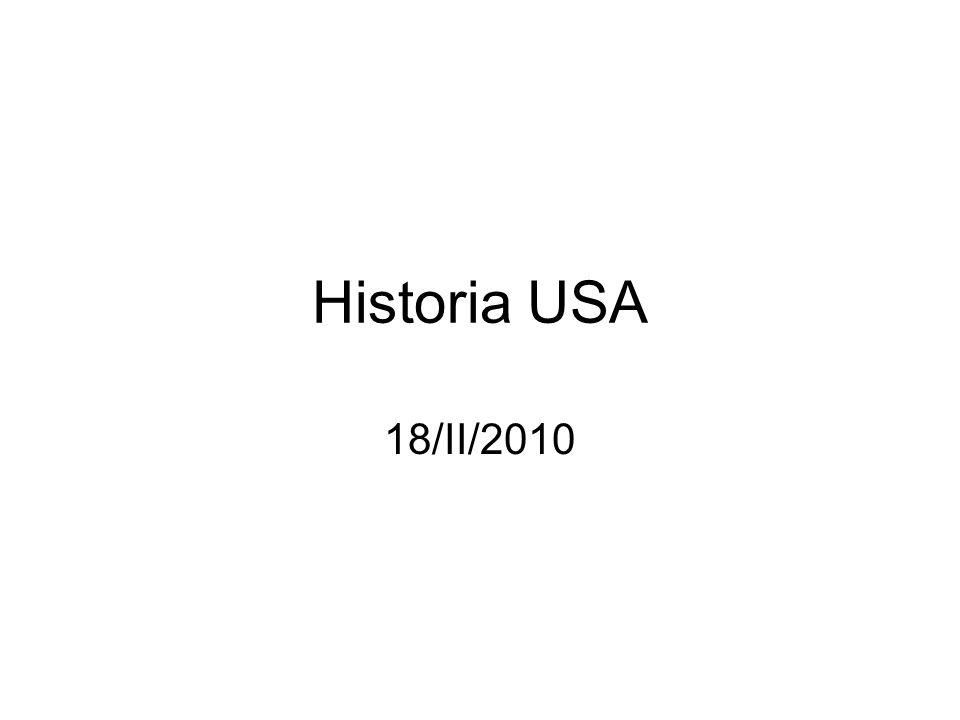 Historia USA 18/II/2010