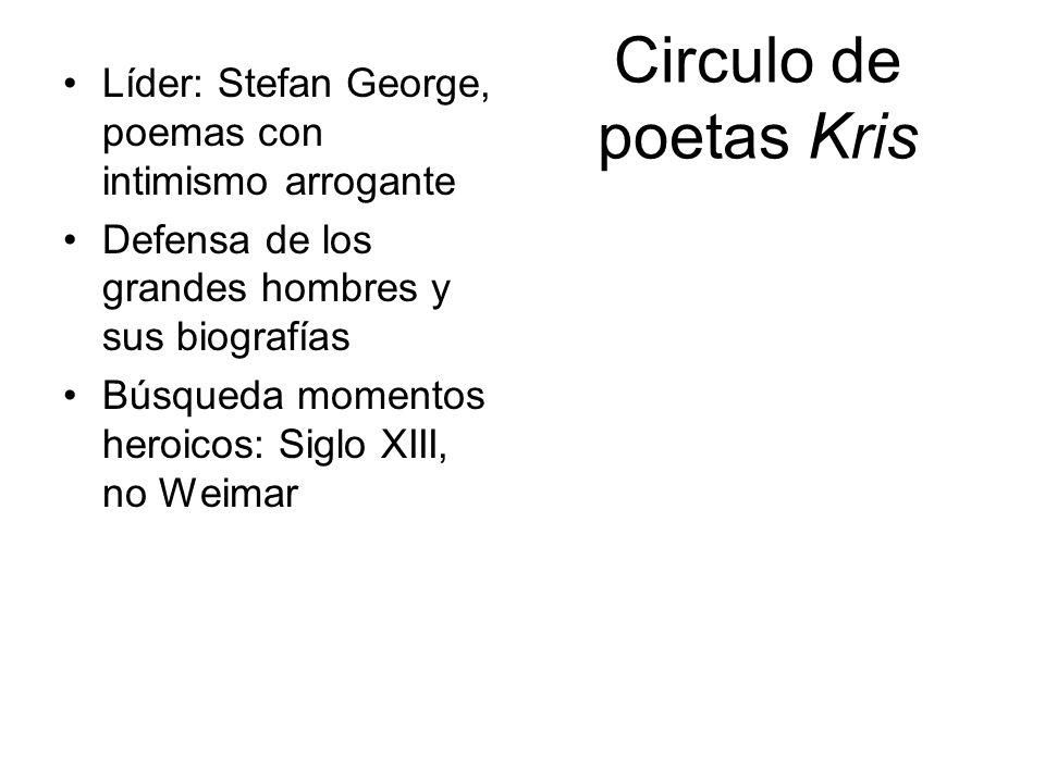 Circulo de poetas Kris Líder: Stefan George, poemas con intimismo arrogante Defensa de los grandes hombres y sus biografías Búsqueda momentos heroicos