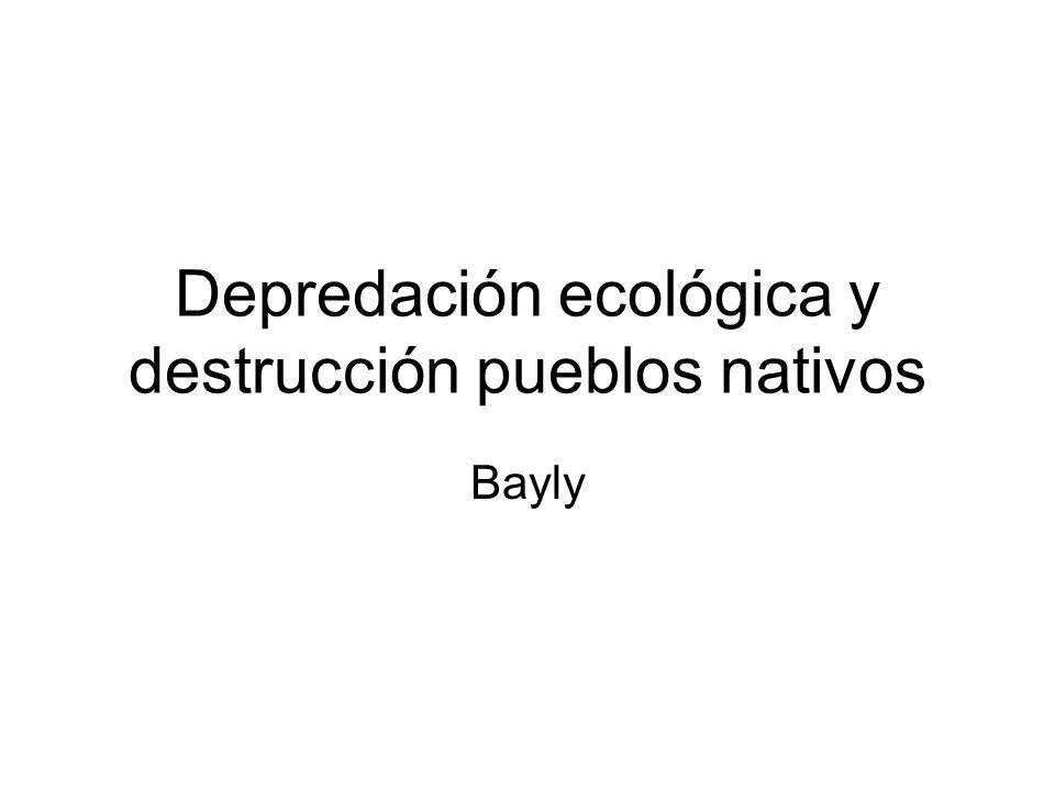 Depredación ecológica y destrucción pueblos nativos Bayly