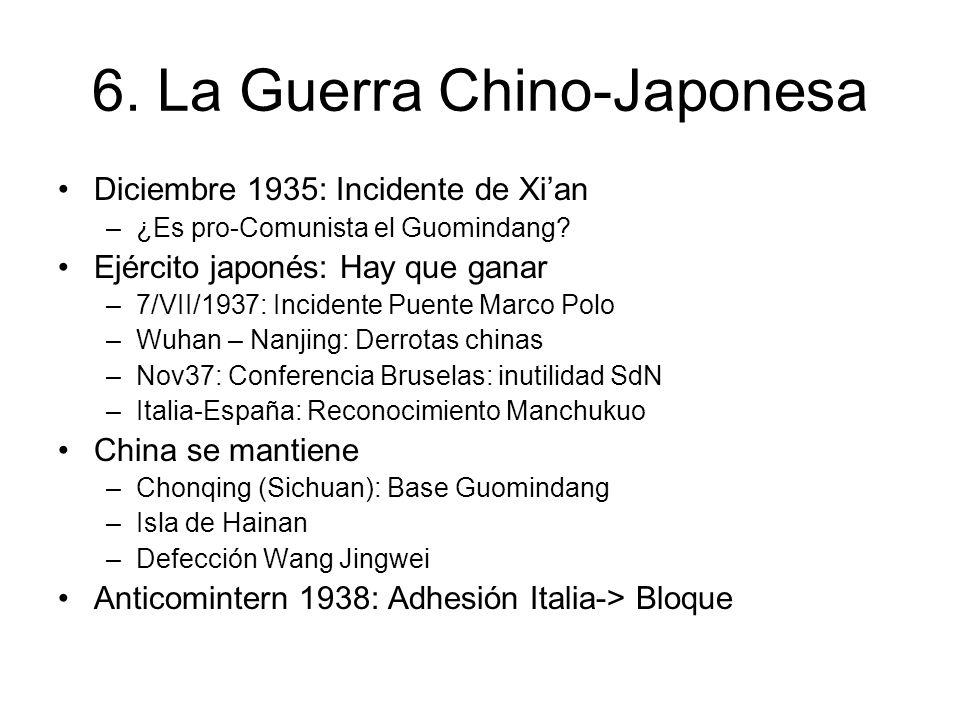 6. La Guerra Chino-Japonesa Diciembre 1935: Incidente de Xian –¿Es pro-Comunista el Guomindang.