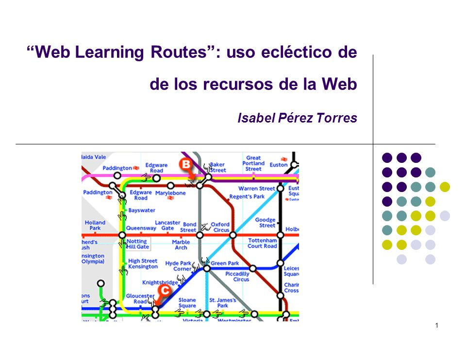 1 Web Learning Routes: uso ecléctico de de los recursos de la Web Isabel Pérez Torres