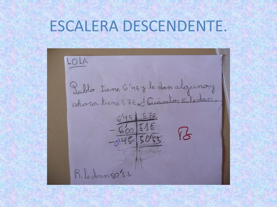 ESCALERA DESCENDENTE.