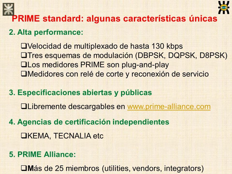 PRIME standard: algunas características únicas