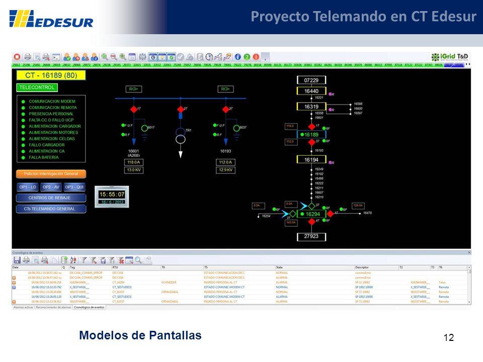 12 Proyecto Telemando en CT Edesur Modelos de Pantallas